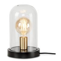 thumb-Tafellamp Seattle van glas en hout-1
