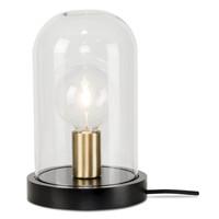 thumb-Tafellamp Seattle van glas en hout-2