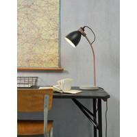 thumb-Tafellamp Denver in zwart of lichtgrijs-3
