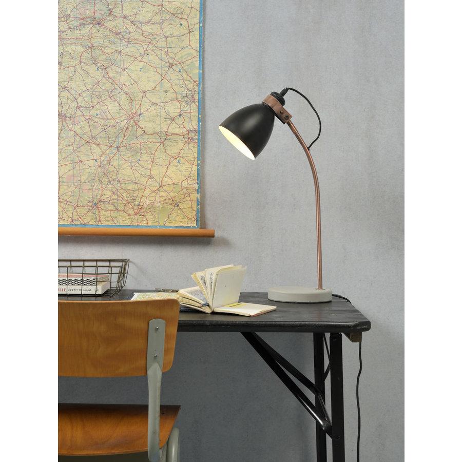 Tafellamp Denver in zwart of lichtgrijs-3