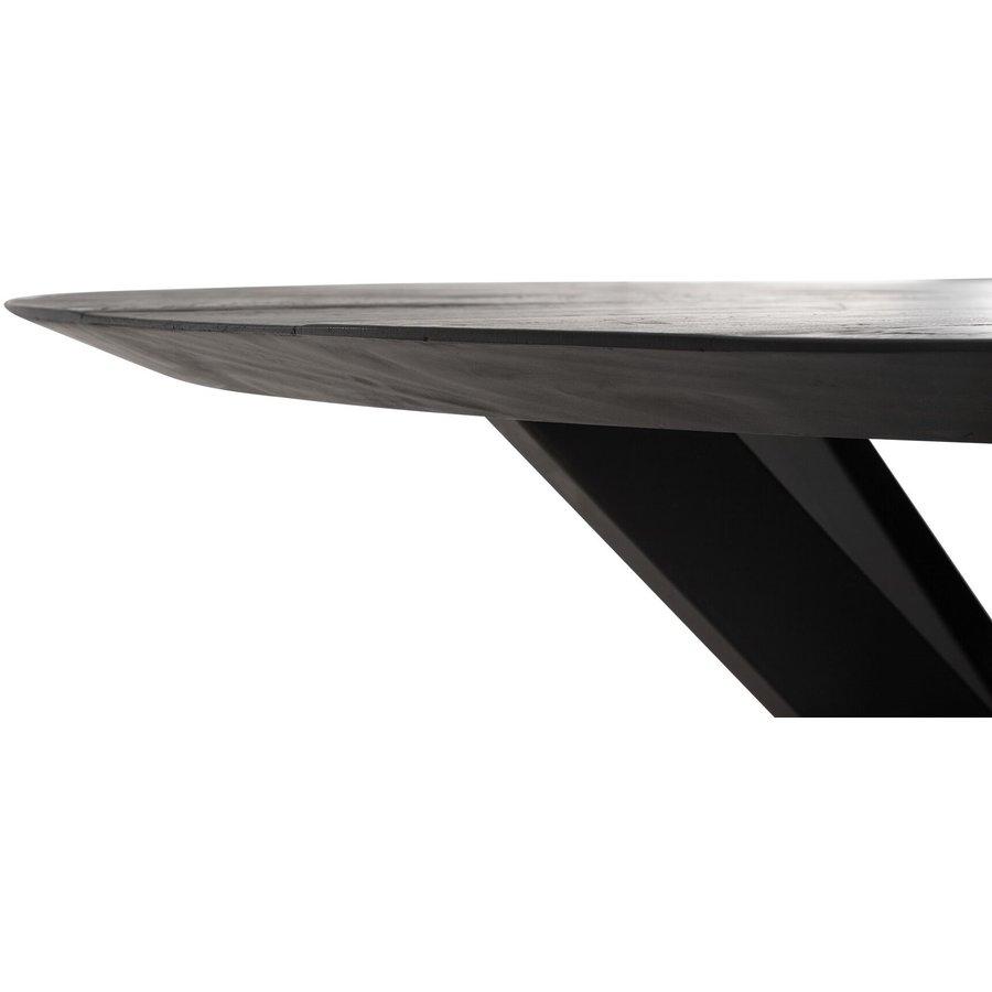 Eettafel Timeless Black Shape rond, 2 maten-3