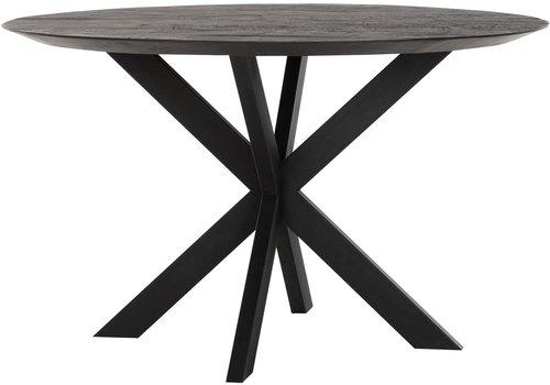 Eettafel Timeless Black Shape  Ø130 cm