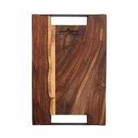 thumb-Pure Rose Wood Serveerplank 2 metalen handvatten 40 x 30 cm-2