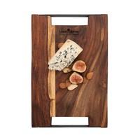thumb-Pure Rose Wood Serveerplank 2 metalen handvatten 40 x 30 cm-3