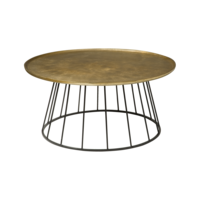 thumb-Ronde salontafel /bijzettafel Renew metaal brons in 2 maten-1