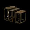 Tower Living Set van 3 bijzettafels Renew goud, zilver, koper