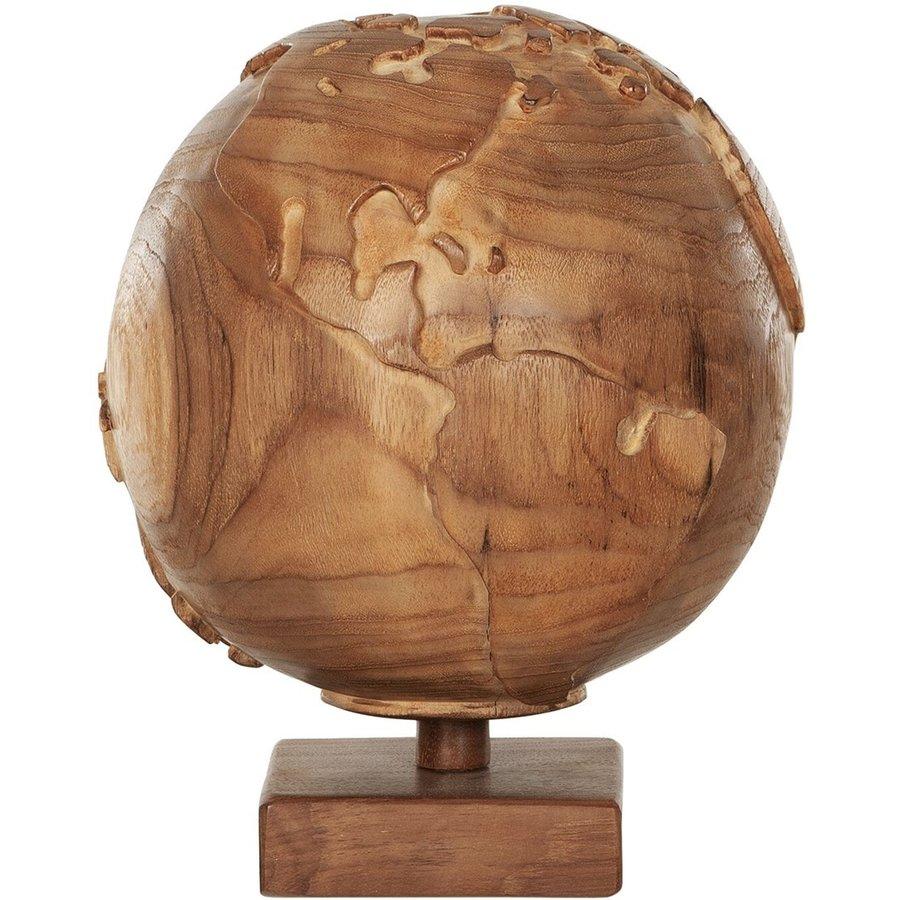Must Living Wereldbol hout naturel of zwart-1