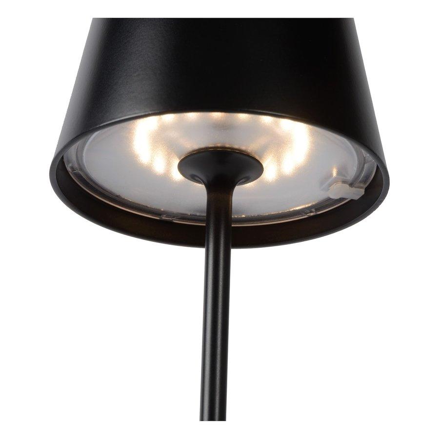 Lucide Buitentafellamp Justin in zwart en wit-8