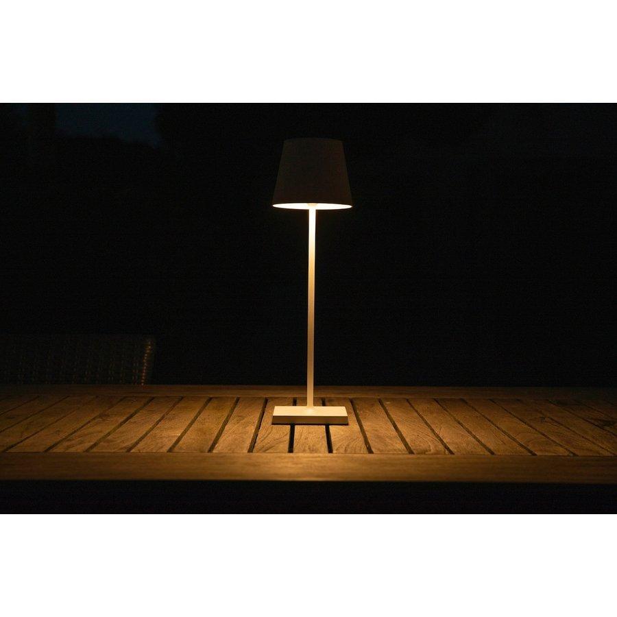 Lucide Buitentafellamp Justin in zwart en wit-4