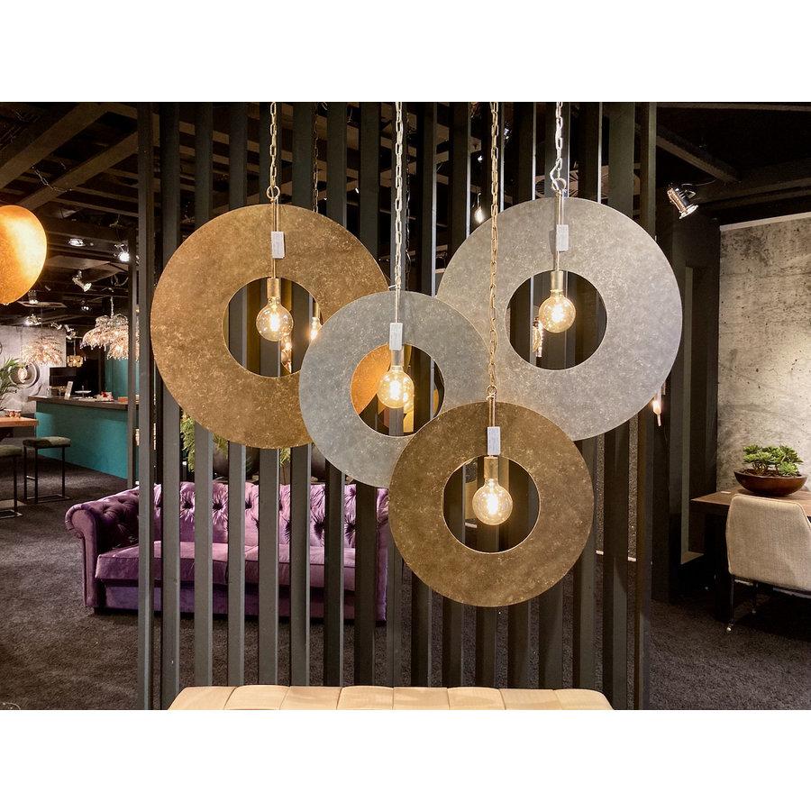 Hanglamp Corum in ambachtelijk metaal, 4 kleuren, 2 maten-4