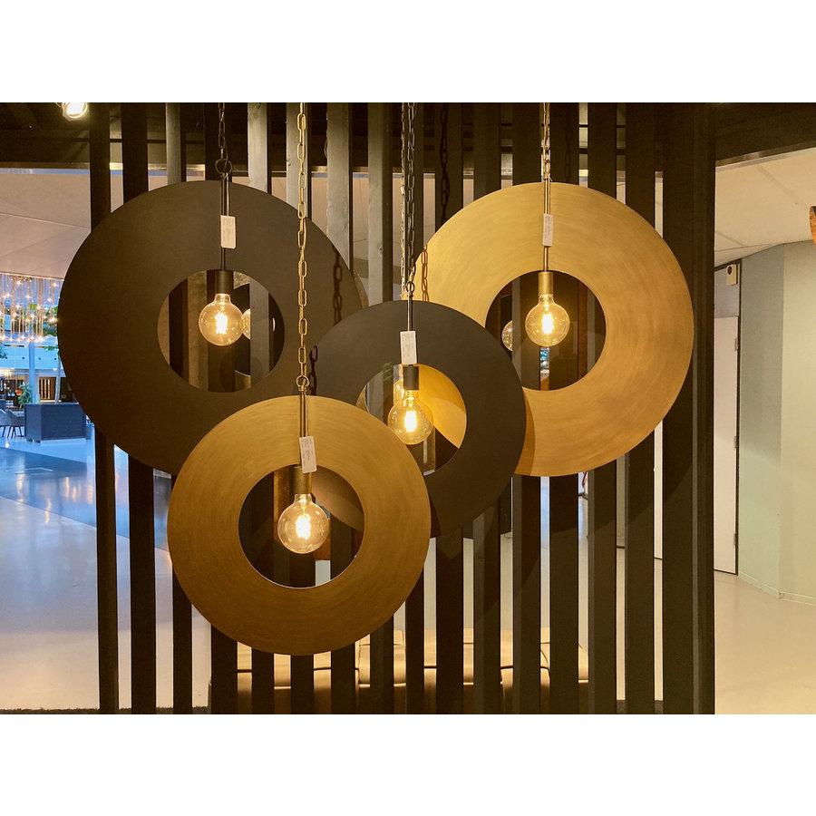 Hanglamp Corum in ambachtelijk metaal, 4 kleuren, 2 maten-2