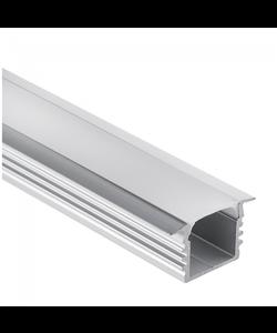 LED profiel 2 meter inclusief afdekking 03ALU