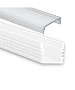 LED profiel 2 meter inclusief afdekking 02WIT