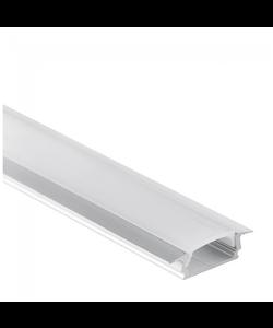 LED inbouw profiel 2 meter inclusief afdekking 08ALU