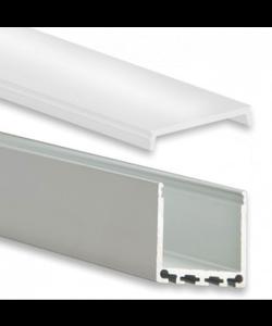 LED XL profiel 2 meter inclusief afdekking 24mm XL06.C1ALU