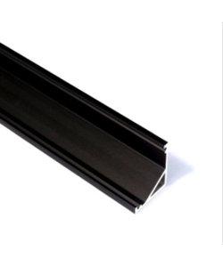 LED hoekprofiel 2 meter inclusief afdekking – C12ZWART