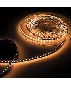 Waterdichte LED strip extra warm wit 12W 1260lm/meter 2700K 24VDC IP65 5m Rol
