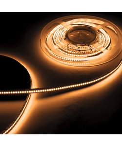 LED strip extra warm wit 9,6W 1020lm/meter 2700K 24VDC IP20 5m Rol