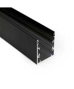LED profiel 2 meter met afdekking XL53ZWART
