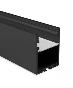 LED profiel 2 meter met afdekking XL40ZWART – 40mm