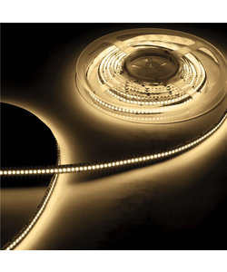 Waterdichte LED strip warm wit 6W 630lm/meter 3000K 12VDC IP20 5m Rol