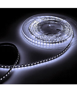 Waterdichte LED strip 6W 630lm/meter 12VDC IP20 Koud Wit 6000K 5m