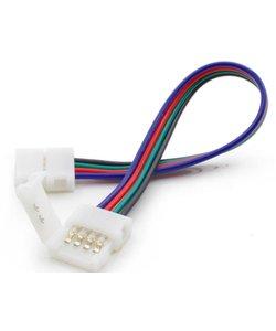 Koppelstuk voor RGB LED strips met 2 zijdig draad 10mm