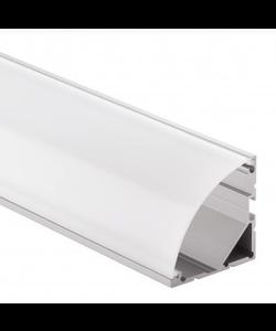 Groot LED hoekprofiel 2 meter gebogen afdekking – XL19.01ALU