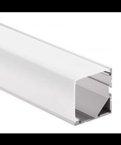 Groot LED hoekprofiel 2 meter rechthoekige afdekking – XL19.02ALU