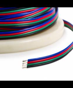 5 aderige RGB LED strip stroomkabel 1 meter 0,5 kwadraat