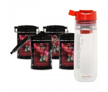 Fairytale tea Red Fruits fresh tea +  Aladdin Perfect Cup Tea Infuser