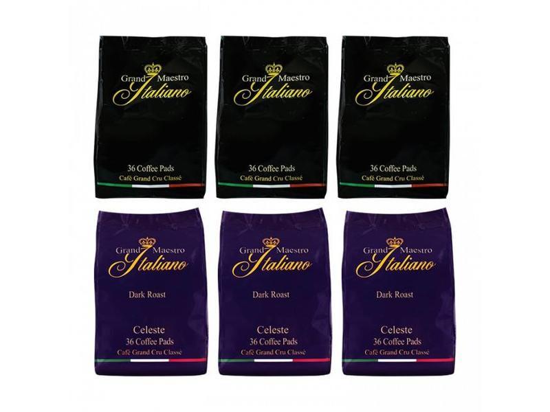 Gran Maestro Italian Grand Maestro Italiano - Mixed case - Coffee pads for Senseo®