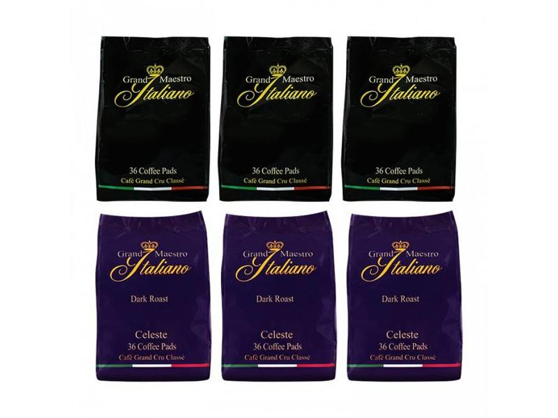 Grand Maestro Italiano Grand Maestro Italiano - Mixed case - Coffee pads for Senseo®