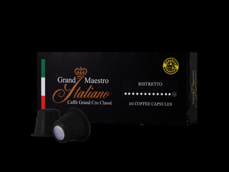 Grand Maestro Italiano Grand Maestro Italiano - Ristretto - Cápsulas para a Nespresso®