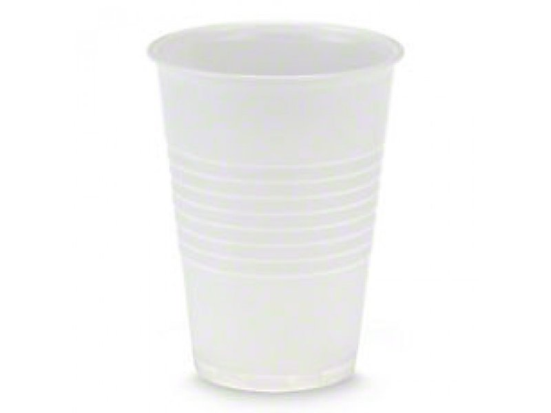 White plastic cups 180cc (3000 pieces)