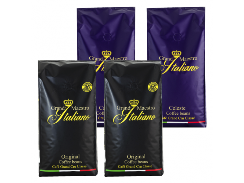 Compare package Grand Maestro Italiano coffee beans (4 kg)
