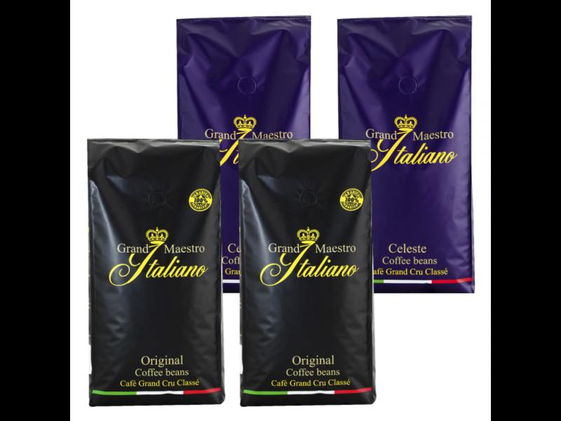 Probeerpakket Grand Maestro Italiano koffiebonen (4 kg)