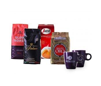 Probeerpakket premium merken koffiebonen (4 kg)