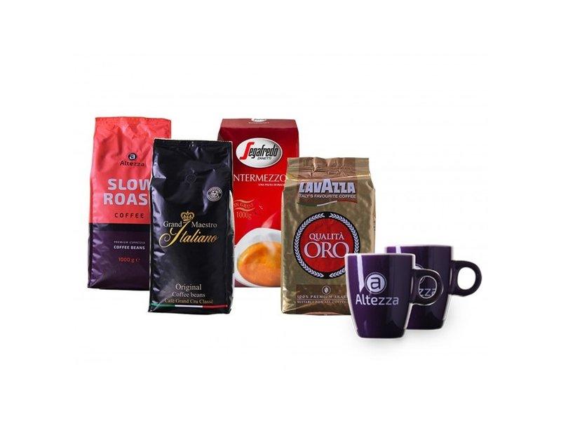 Mixed Coffret de café en grain des marques prestigieuses (4 kg)