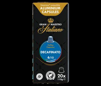 Gran Maestro Italiano - Decafinato - Compatible capsules pour Nespresso