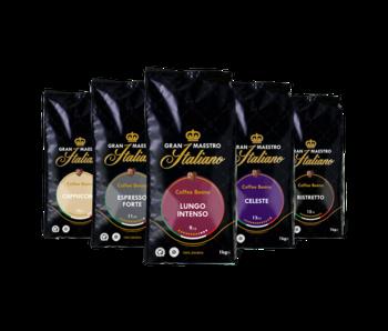 Gran Maestro Italiano - Coffret de comparaison - Café en Grains - Italie (5 kg)