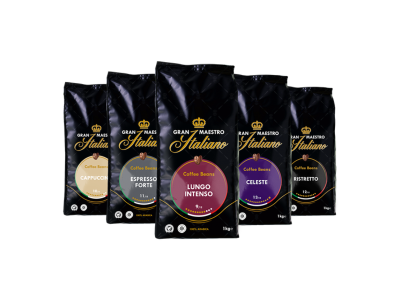 Gran Maestro Italiano Gran Maestro Italiano - Coffret de comparaison - Café en Grains - Italie (5 kg)