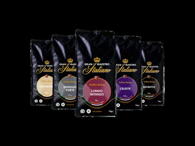 Gran Maestro Italiano Gran Maestro Italiano - Proefpakket - Koffiebonen - Italië (5 kg)