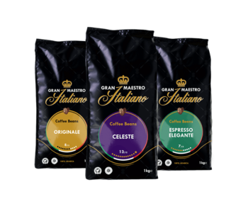Gran Maestro Italiano - Coffret de comparaison - Café en Grains - Italie (3 kg)
