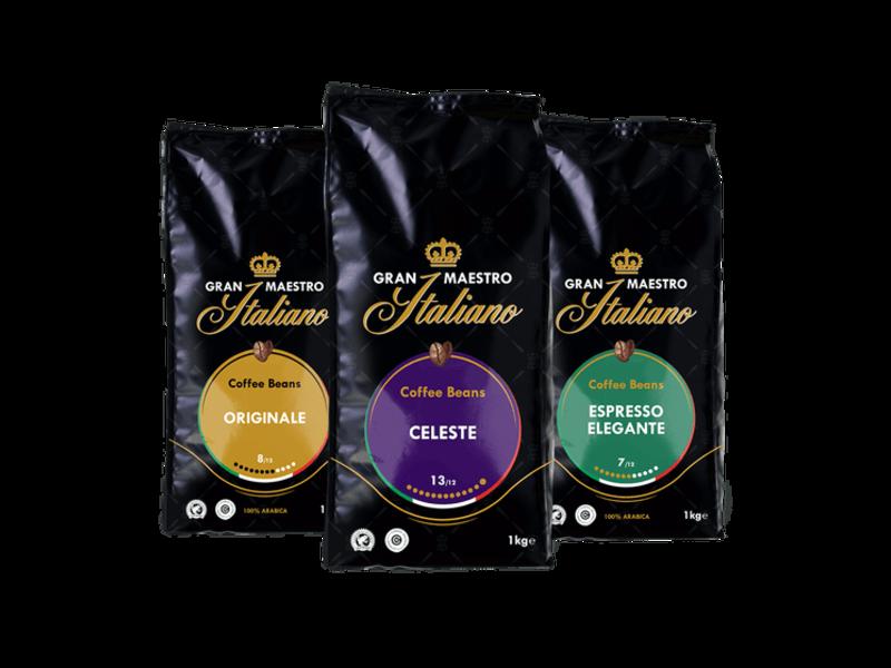 Gran Maestro Italiano Gran Maestro Italiano - Coffret de comparaison - Café en Grains - Italie (3 kg)