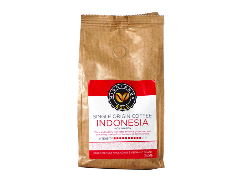 Highlands Gold Highlands Gold - Coffee Beans - Indonesia (Organic)
