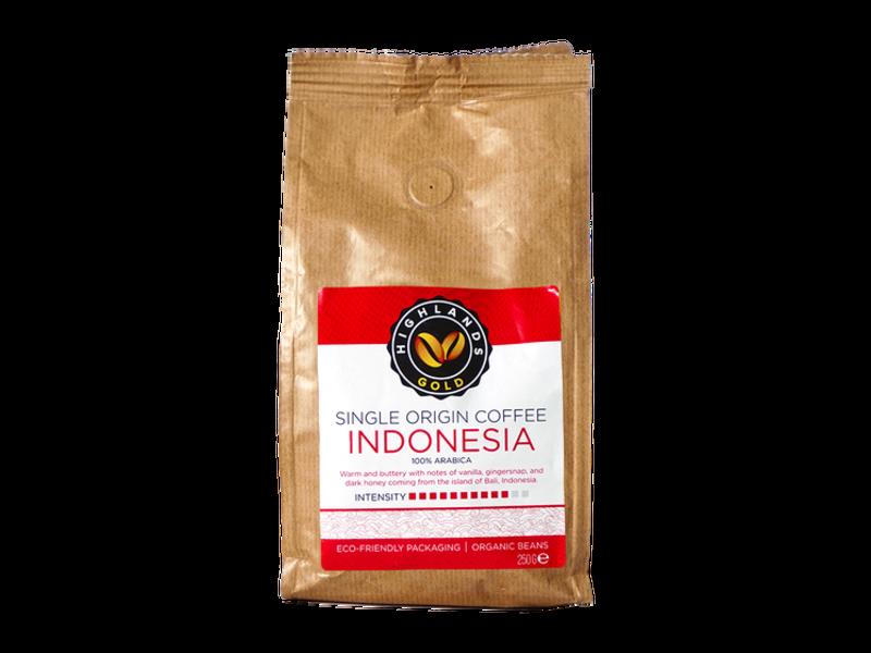 Highlands Gold Highlands Gold - Koffiebonen - Indonesia (Organic)