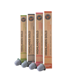 Highlands Gold Highlands Gold - Pacote (Organic) - Compatible cápsulas para a Nespresso - 40 cups