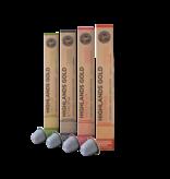 Highlands Gold Highlands Gold - Proefpakket (Organic) - Compatible cups voor Nespresso - 40 cups