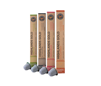 Highlands Gold - Coffret (Organic) - Compatible capsules pour Nespresso - 40 cups